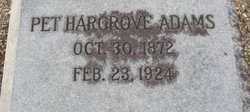 Addie M. Pet <i>Hargrove</i> Adams