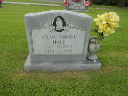 Velma Alice <i>Parrish</i> Hale