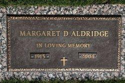 Margaret D Aldridge