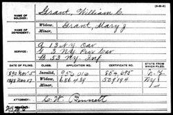 Pvt William Carl Grant