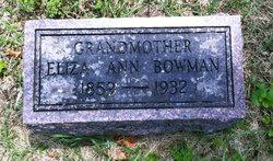 Elizabeth Ann Eliza <i>Garrison</i> Bowman