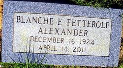 Blanche Eleanor <i>Fetteroff</i> Alexander