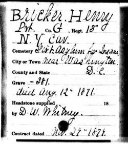 Pvt Henry Bricker