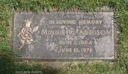 Minnie <i>Grohn</i> Addison