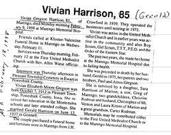 Vivian Elizabeth Moore <i>Gregson</i> Harrison