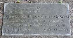 Mrs Frances Airvee Airvee <i>Collins</i> Williamson