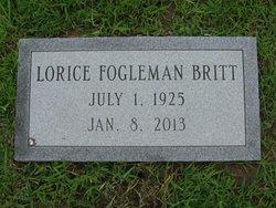 Lorice <i>Fogleman</i> Britt