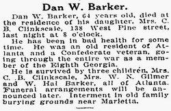 Daniel W Barker