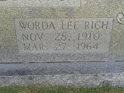 Worda Lee <i>Rich</i> Beshears