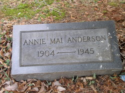 Annie May <i>Adcock</i> Anderson