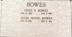 Julie <i>Duvic</i> Bowes