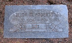 Zelda May <i>Wilson</i> Anderson