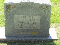 Alice Allie <i>Hubbs</i> McBee