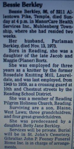 Bessie M <i>Bortz</i> Berkley