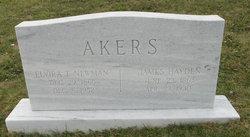 Elvira T <i>Newman</i> Akers