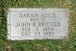 Sarah Alice <i>Weaver</i> Bridges