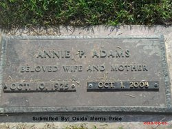 Annie Pearl <i>Williams</i> Adams