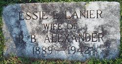 Essie Evelyn <i>Lanier</i> Alexander