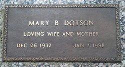 Marie B Dotson