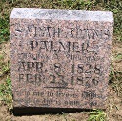 Sarah <i>Adams</i> Palmer