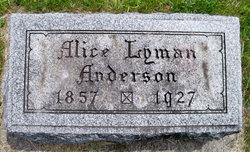 Alice <i>Lyman</i> Anderson