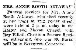 Annie <i>Booth</i> Attaway