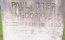 Paul Grier McCorkle