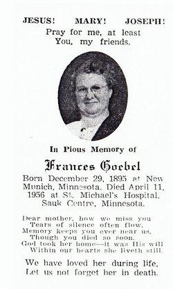 Frances Cecilia <i>Hiltner</i> Goebel