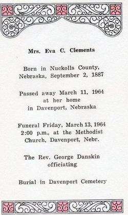 Eva C <i>Hill</i> Clements