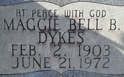 Maggie Belle <i>Boutwell</i> Dykes