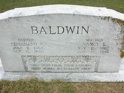 Nancy Elizabeth Nannie <i>Elliot</i> Baldwin