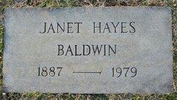 Janet <i>Hayes</i> Baldwin