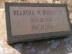 Beartha W. Bohannon