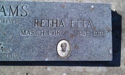 Retha Etta <i>Harvey</i> Williams
