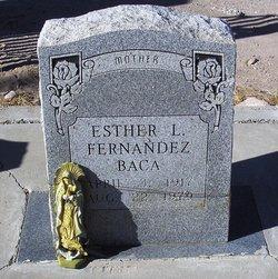 Esther L <i>Baca</i> Fernandez