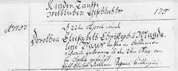 Dorothea Elisabetha Elizabeth <i>Paus</i> Firor