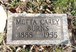 Metta <i>Carey</i> Burns