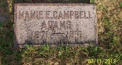 Mamie E. <i>Campbell</i> Adams