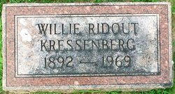 Willie <i>Ridout</i> Kressenberg