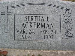 Bertha L. <i>Kunkel</i> Ackerman