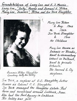 Mary Lee Sammie <i>Killen</i> Slaughter