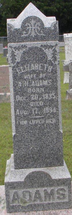 Elizabeth <i>Hathaway</i> Adams