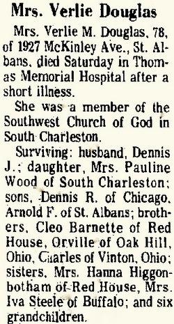 Verlie M. Dolly <i>Barnett</i> Douglas