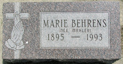 Marie <i>Mahler</i> Behrens
