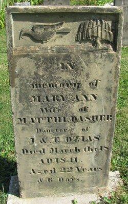 Mary Ann <i>Ozias</i> Dasher