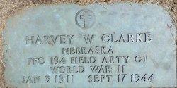 PFC Harvey W Clarke