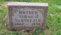 Sarah Ann Jemima <i>Patterson</i> VanVelzer