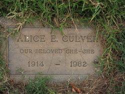 Alice E <i>Edwards</i> Culver
