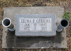 Zelma F <i>Switzer</i> Gericke