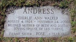 Shirlie Ann <i>Walker</i> Andress